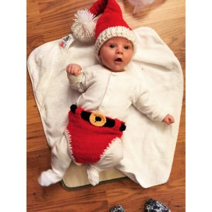 The cutest Santa Baby you ever saw! Little Leo!