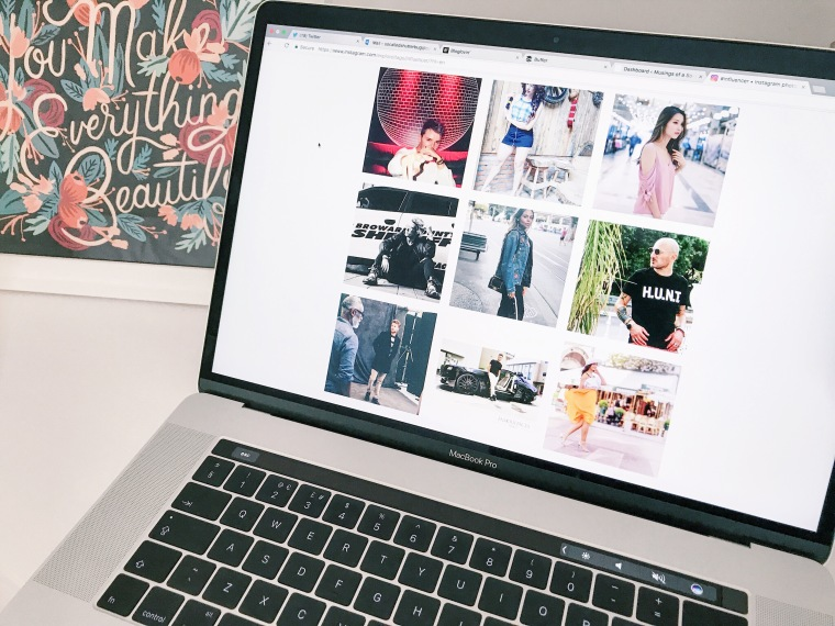 laptop featuring instagram influencers