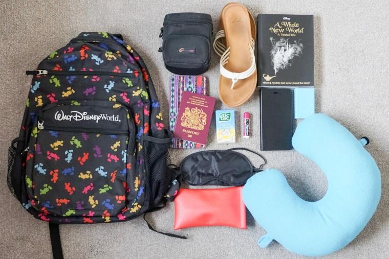 flight bag flatlay