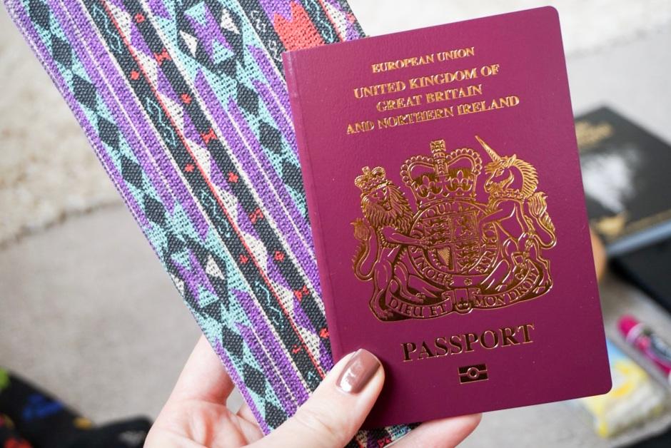 UK passport and longline wallet