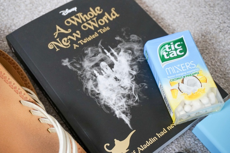 tic tacs and a Disney book